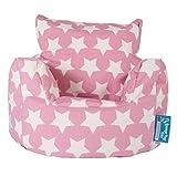 Lounge Pug, Puff Sillón para niños, Estampado para Niños - Estrellas Rosa