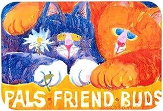 Caroline's Treasures 6029CMTCats Pals Friends Buds Kitchen or Bath Mat, 20 by 30, Multicolor