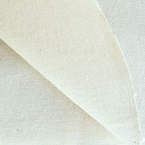 TOLKO Baumwollstoffe Meterware | Schwere Canvas ROH-Baumwolle | naturfarben als Polsterstoff/Dekostoff (Breite: 300 cm | schwer)
