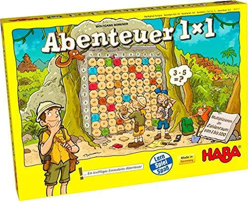 Haba 303717 - Abenteuer 1x1   Rechen- und Lernspiel zum spielerischen Trainieren des Einmaleins  Multiplizieren im Zahlenraum...