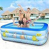 SINGOing Aufblasbarer Kinderpool Home Baby-Pool Aufblasbarer Pool Wasserspielcenter Ocean Swim Center Family Pool - Kinder Aufstellpool - Planschbecken (A, 110x90x35)