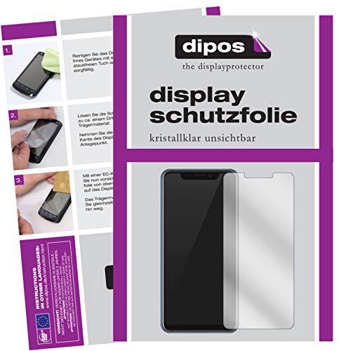 dipos I 2X Schutzfolie klar kompatibel mit ZTE Axon 9 Pro Folie Bildschirmschutzfolie