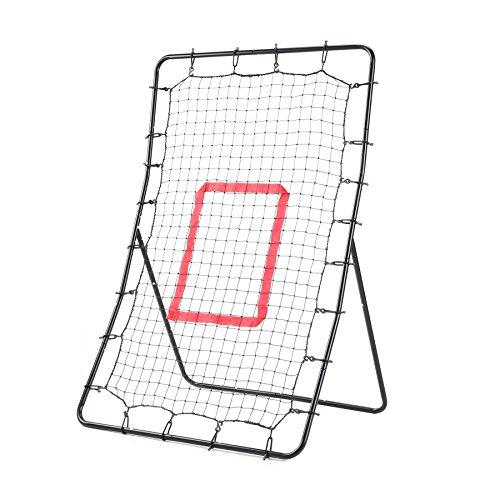 LAKARU(ラカル)野球 練習用ネット リバウンドネット リターンネット ピッチングトレーニング バッティングトレーナー 壁あて 投球練習 携帯 自主練習 調節可 ソフトボール 軟式用 133 * 92 * 72cm 説明書付
