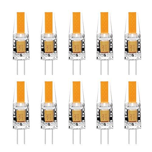 G4 LED Lampe Birne - Ascher 10er-Pack G4 LED Leuchtmittel 2W 210 Lumen [Ersetzt 20W Halogen, AC/DC 12V, Warmweiß, 360° Abstrahlwinkel] G4 LED Leuchtmittel