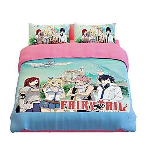 One Piece, Totoro Naruto, One Punch Man, Anime Juego de ropa de cama 3D Big Collection Juego de funda de edredón suave (sin edredón) (Anime-15, individual 150 x 200 cm)