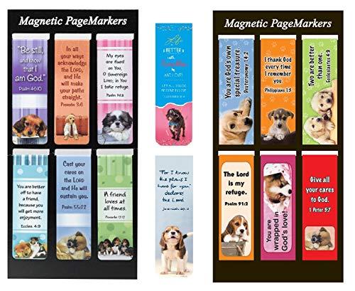 Lesezeichen, religiöses Design, christliches Design, magnetisch, für Bibel, Buch, Planer und Tagebuch, 14 Stück