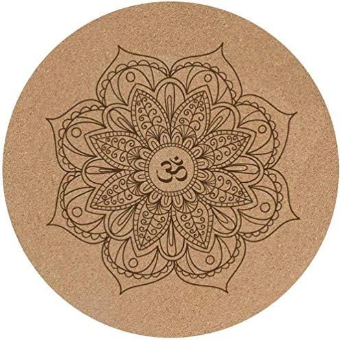 Ejercicio Yoga Mat Cork pequeñas y Redondas Yoga Mat Antideslizante de Caucho Natural Ronda de meditación la meditación Mat adoración de Buda meditación Mat Formación