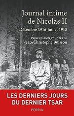 Journal intime de Nicolas II de NICOLAS II