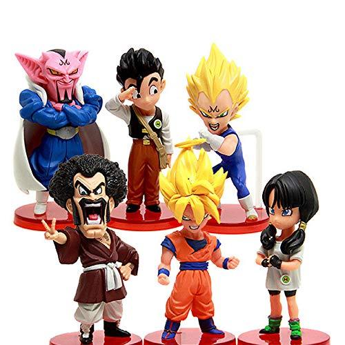 6 Pc / Lot 8-10 Cm Figura De Acción Colección De Anime Figuras De Dibujos Animados Versión Q Modelo Juguetes Muñeca Niños Regalo Brinquedos