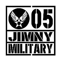 ミリタリー JIMNY ジムニー カッティング ステッカー ブラック 黒