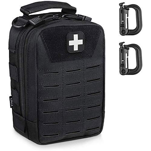WYNEX Rip Away EMT Médico Bolsa de Primeros Auxilios MOLLE, Tactical IFAK Bolsa Utilidad Militar Med Pouches EDC Supervivencia Kit Traje para táctica Cintura cinturón Unidades 1000 Nailon