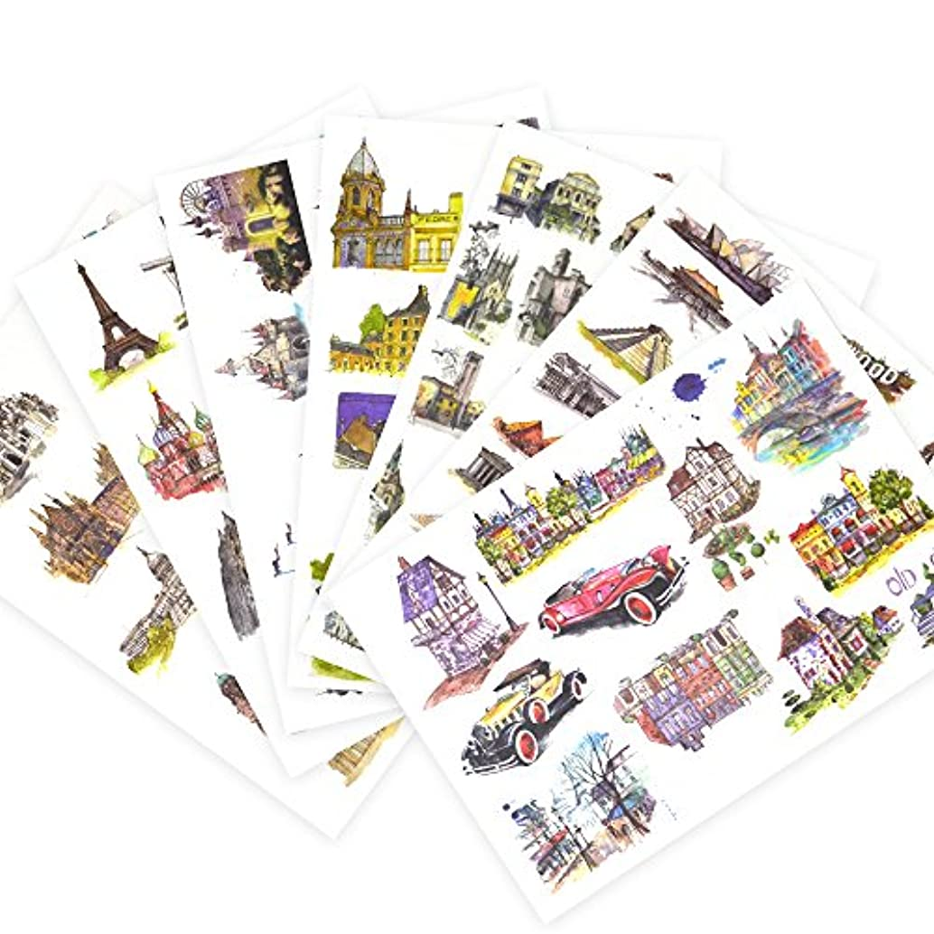 Planner Building Stickers Pack for Boys/Kids/Girls(7 Sheets/Pack 6 × 8.2 inches) - Decorative Sticker Collection for Scrapbooking by Toufftek