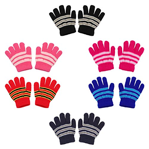 BESPORTBLE 6 Paar Kinderhandschuhe Volle Finger Strickhandschuhe Warmer Handschuh für Jungen Und Mädchen