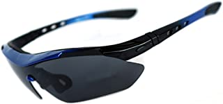 Men's High strength polarizing glasses Half frame riding glasses Windproof goggles Outdoor sports glasses against harmful UVA/UVB rays