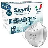 BFE ≥99% Efficienza di filtrazione batterica. 20 Mascherine Filtranti Monouso FFP2 NR SISTEMA TUNNEL Protection: ogni mascherina, prima di essere sigillata nella sua confezione, viene sottoposta ad un processo di sanificazione per l'abbattimento dell...