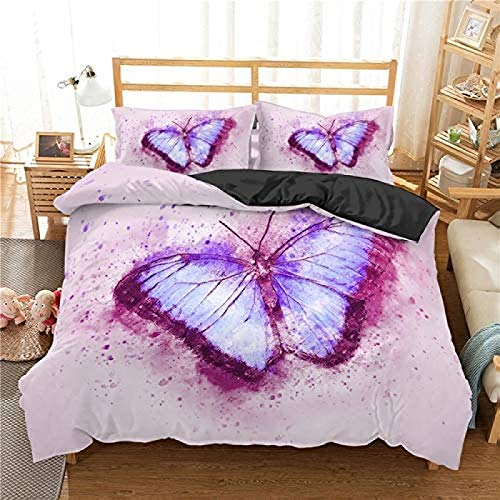 wjy Bedding Cotton Cute Cat Bedding Set 100% Microfiber Bedspread Duvet Cover Set Animal Blanket Children Adults,1-UKKing220x230cm