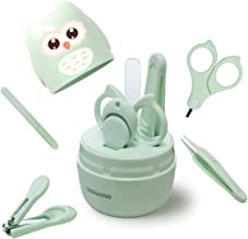 DOOGAXOO Baby Nail Clippers Kit, 4-in-1 Baby Nail Care Set with Cute Case, Baby Nail File, Nail Clipper, Scissor Tweezer, ...