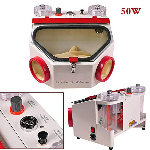 For Sale! Aries Outlets USA Dental Lab Equipment Twin-Pen Sandblaster Electric Sand Blasting Machine