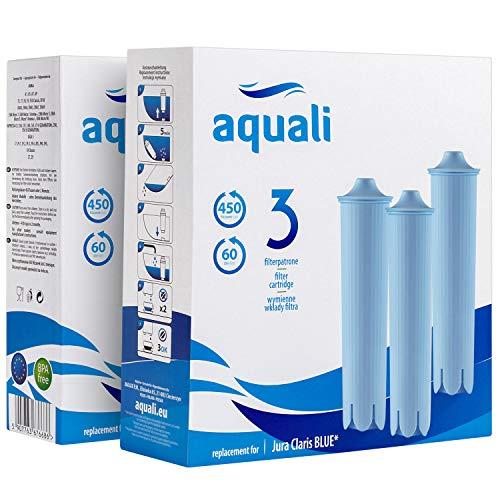 12 cartuchos de filtro de repuesto   Compatible con Jura Blue   Set Aquali