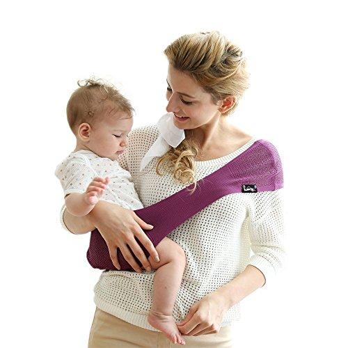 Lucky Baby lb-p290s90banda Portabebé bolsillo, Suppori, malva, malva