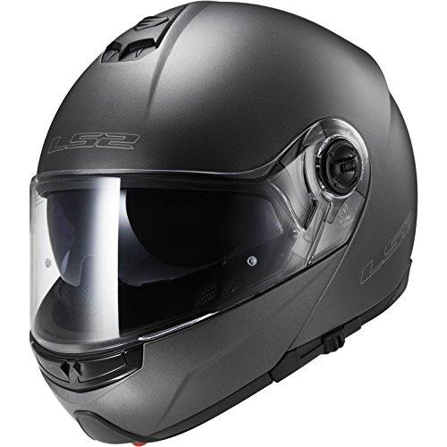 LS2 FF325 Strobe Motorcycle Helmet S Matt Titanium