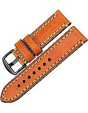 Lederen horlogeband 20mm-26mm horloge accessoires horlogeband horloge vervangende riem, comfortabel ademend (Color : Light Brown B, Size : 26mm)