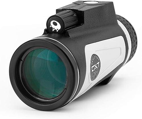 Monoculaires Portable Miroir de Voyage Mini Vision Nocturne Lunettes 7x35 HD Haute Puissance télescope Enfants Monoculaires Adultes avec lanière et Support de téléphone Portable Facile à Transporter