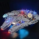 LODIY Juego de iluminación para Lego 75192 Millennium Falcon , juego de iluminación LED compatible con Lego 75192 (no incluye modelo Lego) (sin mando a distancia)