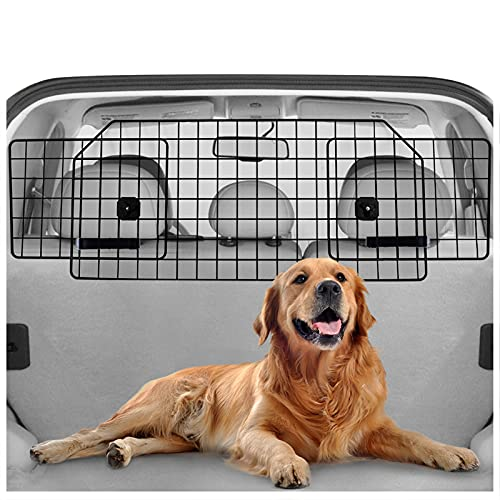 rabbitgoo Dog Car Barrier for SUVs, Van, Vehicles - Adjustable Large Pet SUV Barriers Universal-Fit,...