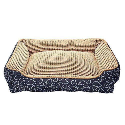 Canapé lit pour chien, lavable en tissu Oxford pour animal domestique Tapis confortable Canapé avec housse amovible lavable pour chien, chat ou les petits animaux