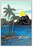 Hawaii Poster mit Vintage Stylization, Aloha Hawaii