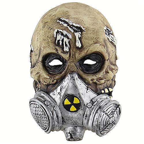 SSDAOO Halloween Horror Gas Maske Latex Biochemische Schädel Kopfbedeckung Cosplay Party Film Requisiten Maskerade Thema Party Musik Festival Karneval Bar Erwachsenen Neutral