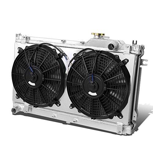 Compatible with Mazda Miata MX-5 Aluminum 2-Row Bolt-on Cooling Radiator W/Fan Shroud - 1st gen NA