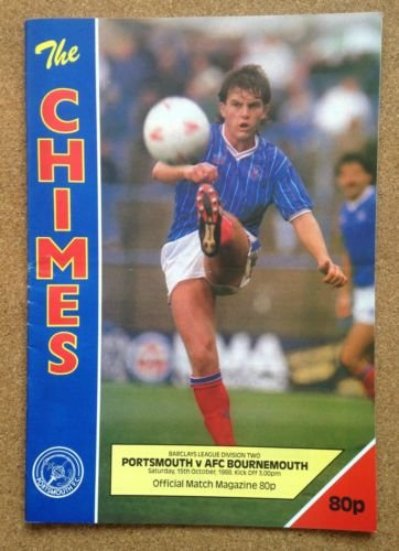 Portsmouth Bournemouth 15/10/88 FRATTON Park CHIMES football programme (GR1)