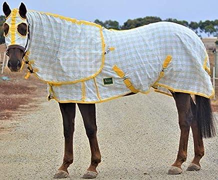RUMANI 295gsm Summer Polycotton Ripstop Check Paddock Horse Rug