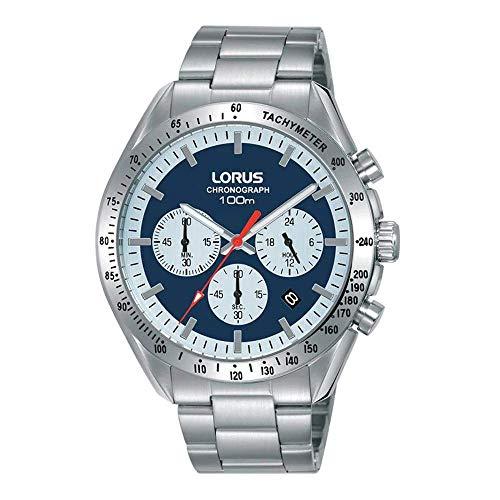 Lorus El | cronógrafo para Hombre | Pulsera de Acero Inoxidable | Esfera Azul | RT339HX9