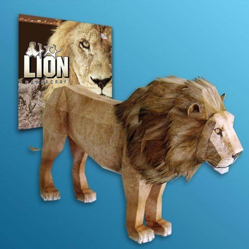Papertoy - Solid model Lion