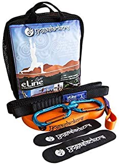 YogaSlackers slackline Light kit for Yoga and balance training eLine 50 ft