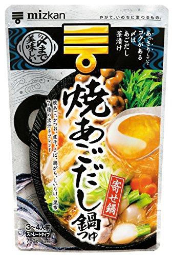 ミツカン ミツカン 〆まで美味しい焼あごだし鍋つゆ ストレート 750g
