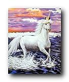 Unicorn Wall Decor Mythical Horse Sue Dawe Fantasy Mythology Art Print Poster (16x20)