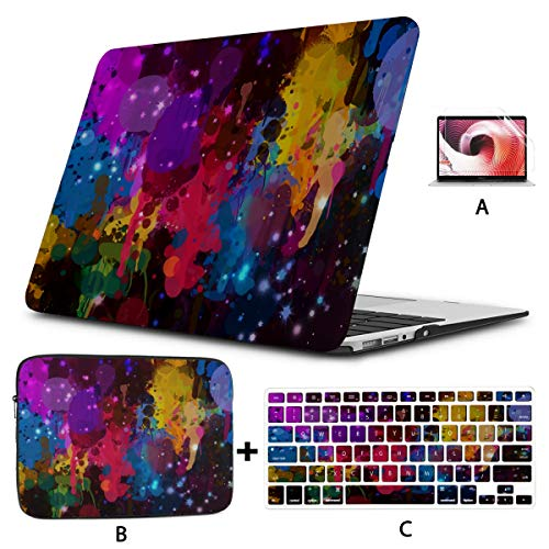 Macbook 15 Case Color Trickle And Pseudo Glitter Effect New Macbook Air Case Hard Shell Mac Air 11'/13' Pro 13'/15'/16' With Notebook Sleeve Bag For Macbook 2008-2020 Version