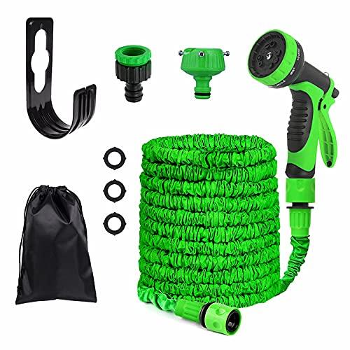 Tubo da Giardino, Flessibile Tubo da Giardino 100 FT 30m,Tubo Estensibile Irrigazione con 10 Funzioni di Spruzzo per Giardinaggio Lavaggio Auto o Casa