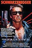 Póster de la película Terminator (1984, James Cameron, Arnold Schwarzenegger, Linda Hamilton 'Sarah Connor', Michael Biehn) [tamaño A2 42 x 59,4 cm, 42 x 59,4 cm