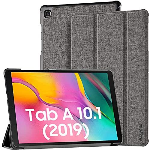 EasyAcc Hülle Kompatibel mit Samsung Galaxy Tab A 10.1 2019 T510/ T515 - Ultra Dünn mit Standfunktion Slim PU Leder Smart Schutzhülle Kompatibel mitSamsung Galaxy Tab A T510/T515 10.1 Zoll 2019,Grau