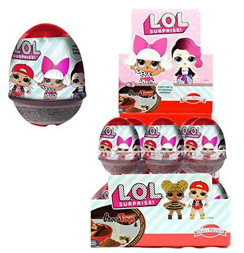 Ovetti LOL Surprise Estivi Choco & Toys con Crema Cioccolata e Cereali con Tante Sorprese da Collezionare (24 Ovetti)