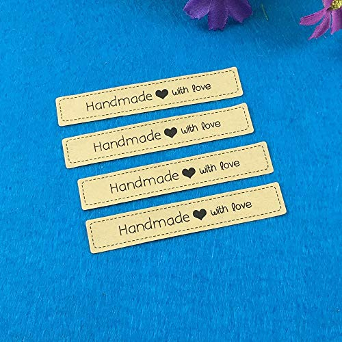 500pcs handmade custom sticker label with love for personalized wedding/gift/clothing/chalkboard DIY Gift tags labels