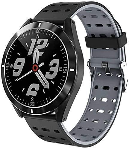 Reloj inteligente 1.3 pulgadas pantalla táctil completa reloj deportivo IP67 impermeable actividad tracker con monitor de sueño y rastreador de fitness-gris
