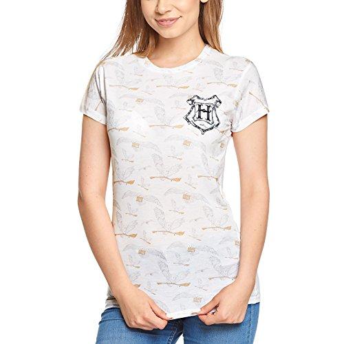 HARRY POTTER Camiseta Mujer Camiseta Owl Hedwig Blanca - XXL