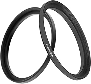 49mm-52mm Step Up Ring(49mm Lens to 52mm Filter, Hood,Lens Converter and Other Accessories) (2 Packs), Fire Rock 49-52 Aer...