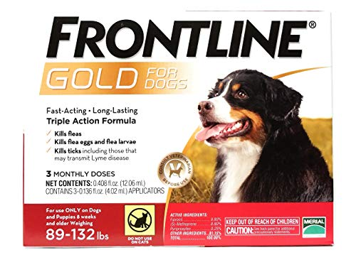 Price comparison product image Frontline Gold 3 Dose 89+lbs